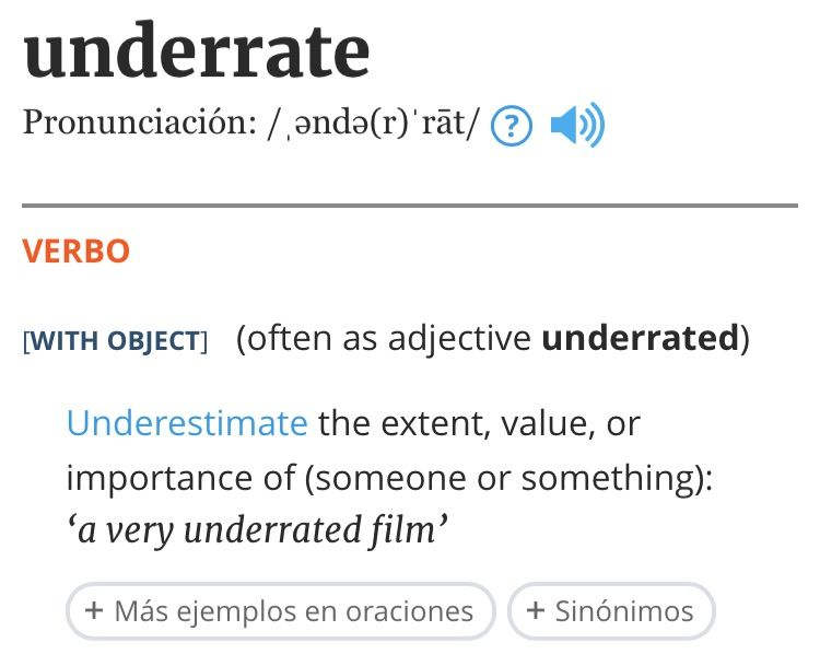 it is better being underrated by people than overrated by them Is it better to be underrated by people or overrated by them while no one wants to be underrated, being overrated is definitely worse if we are unde.