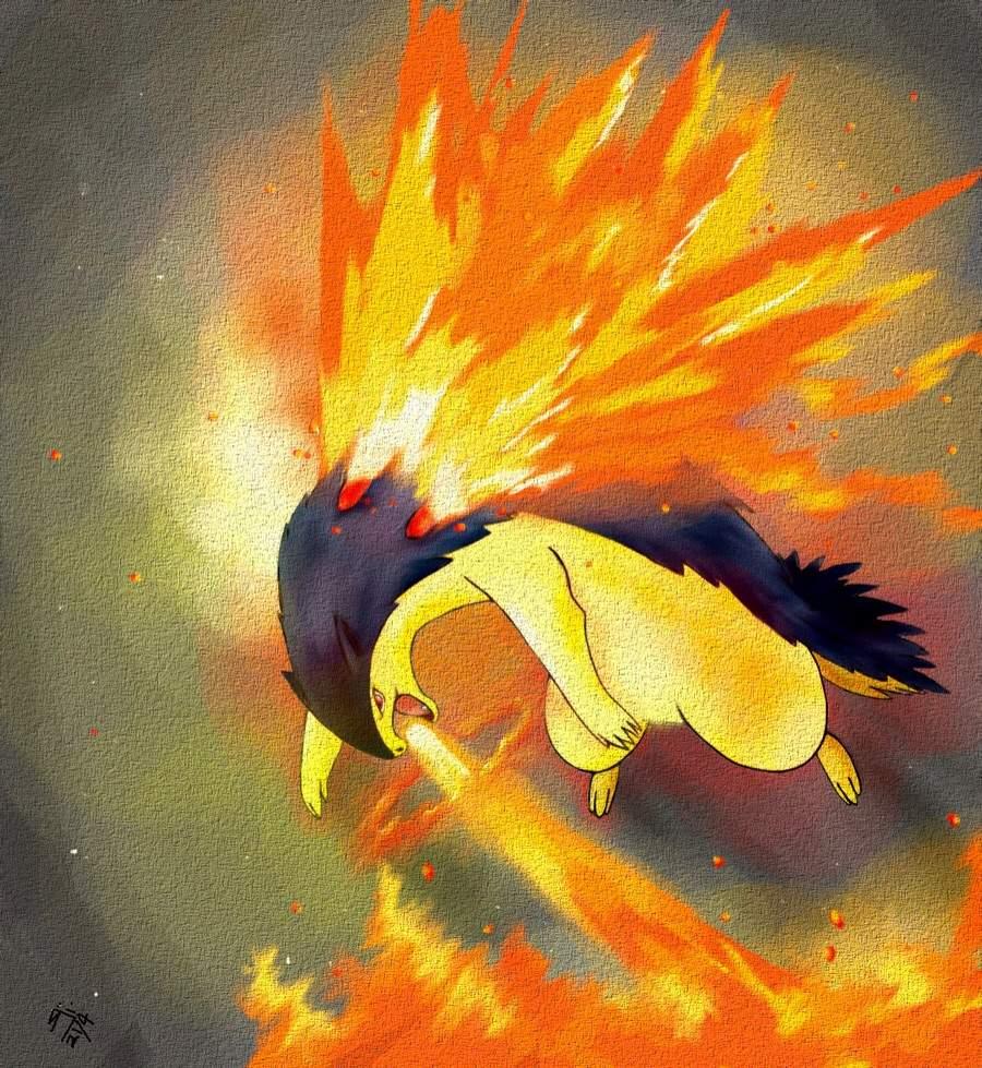 Pokemon 157 Typhlosion Pokedex: Evolution, Moves, Location ...