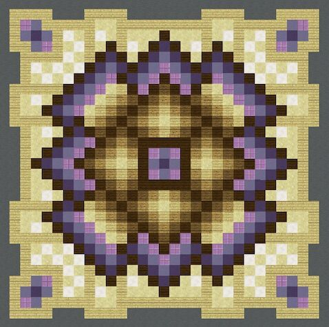 Mandalas floors pixel art minecraft amino for Minecraft floor designs