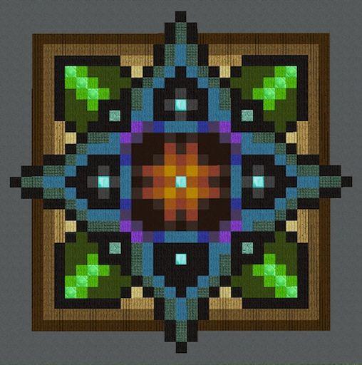 Mandalas Floors Pixel Art Minecraft Amino