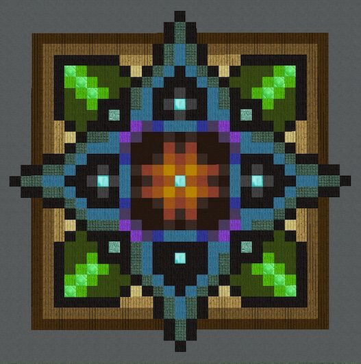 Pixel Art Design : Mandalas floors pixel art minecraft amino