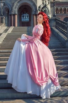 How To Make Ariel Pink Dress Cosplay Amino