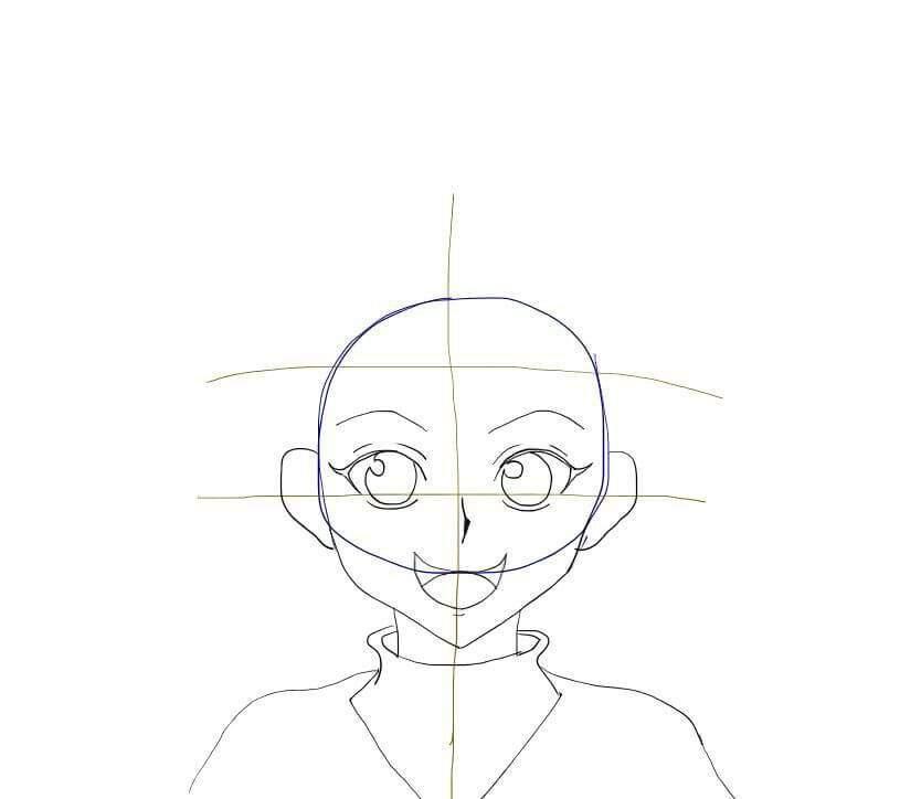 how to draw killua step by step