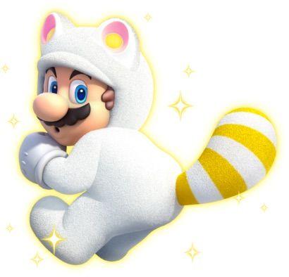 White Tanooki Mario   Wiki   Video Games Amino