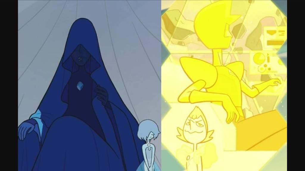 White diamond theory cartoon amino for Yellow diamond mural