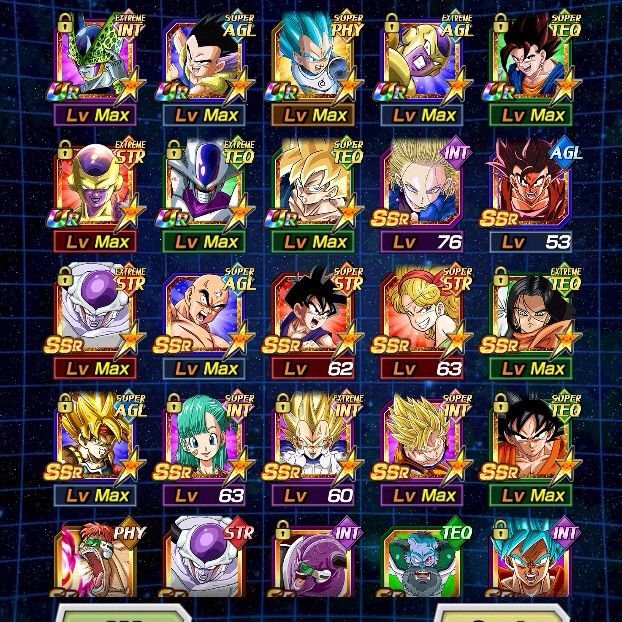 Dragon Ball Z Anime Characters Database : My dragon ball dokkan battle character list dragonballz