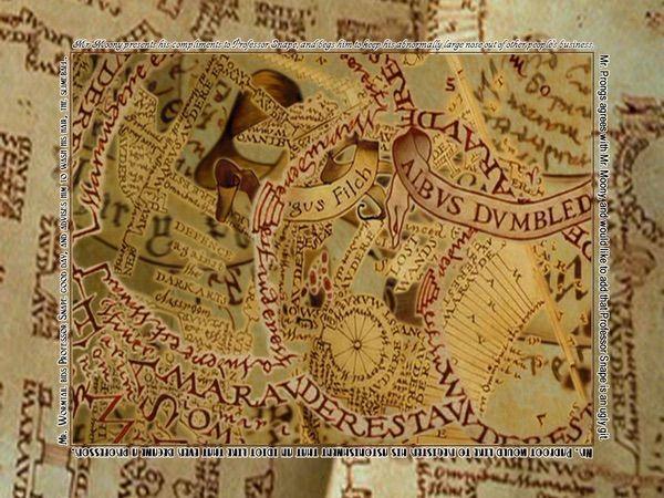 Group Of Marauder S Map Desktop Wallpaper