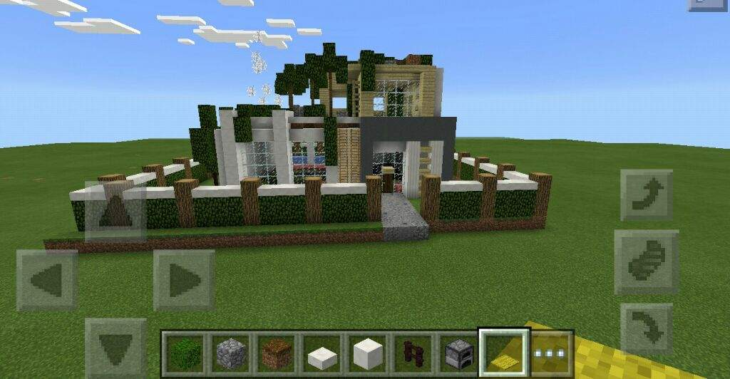 Minecraft PE Build Small Modern House Minecraft Amino