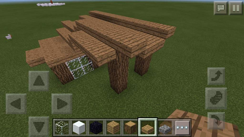how to build a deck in minecraft