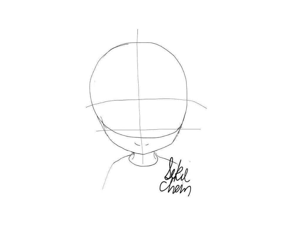 Step 3 Next Is The Eyes Kuroko Has Somewhat Flat Eyes Usually But I Like  To Draw Round Eyes So This Was My Result The Best Way To Do This In My