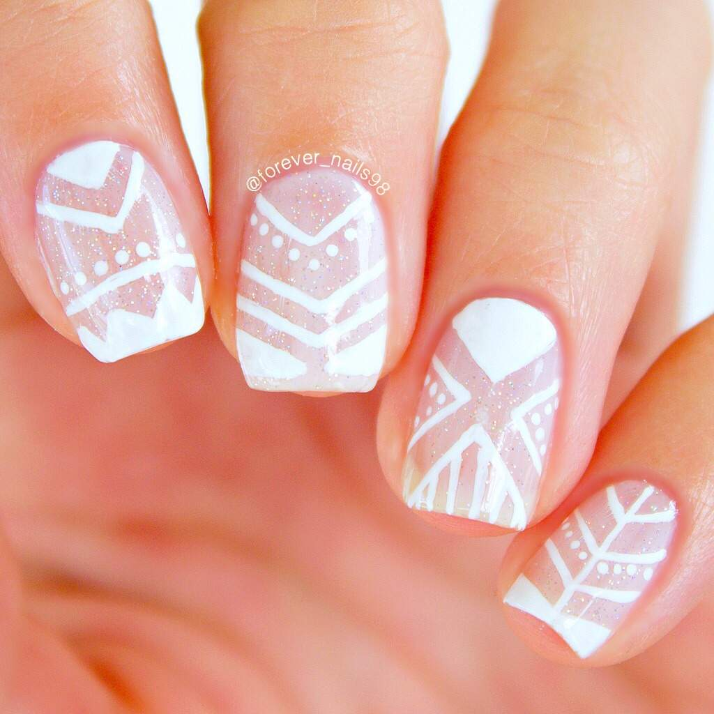 Tribal Negative Space Nails