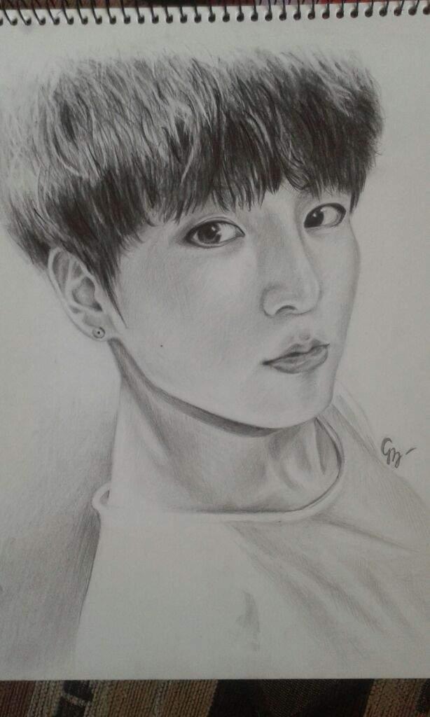Jungkook Bts Drawings: BTS' JungKook Fanart Drawn By Me ^~^