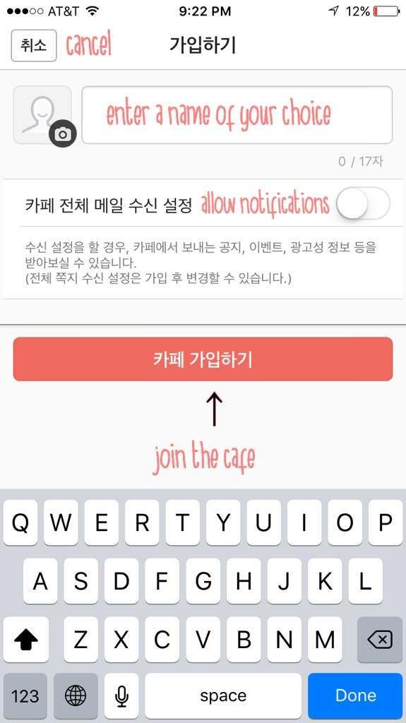 how to change language in daum cafe app