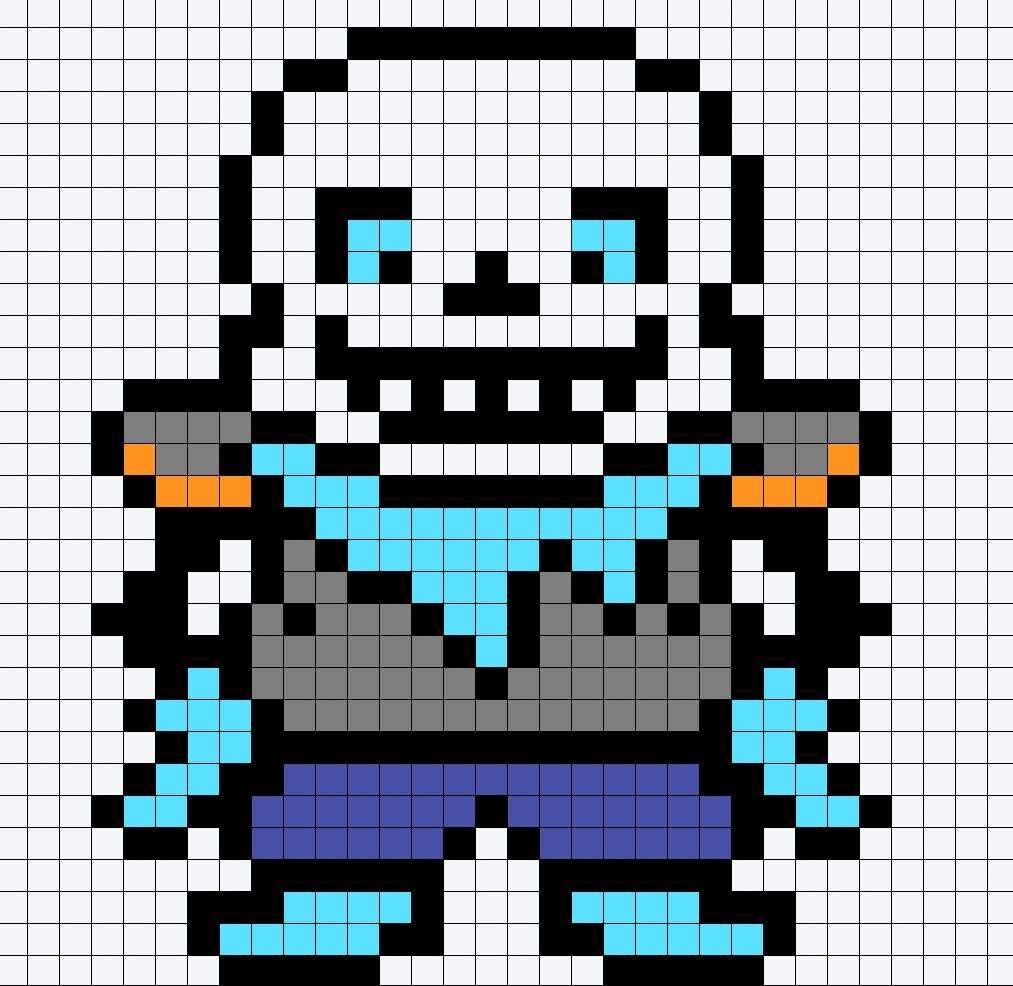 Пиксель арт санса схема