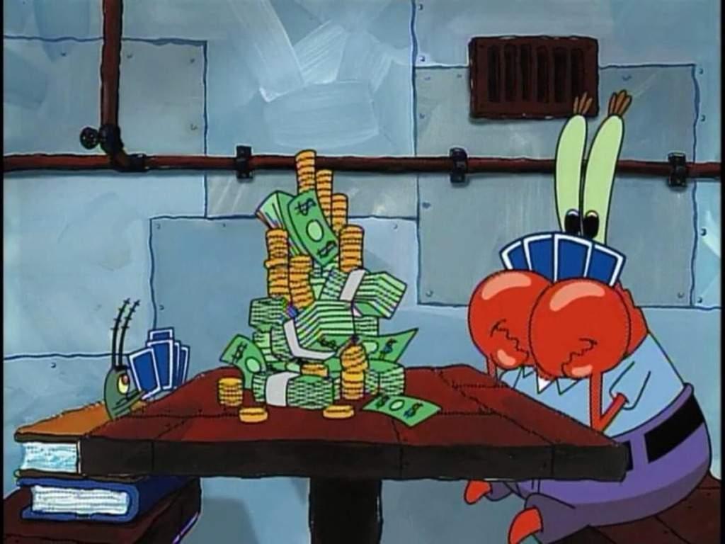 Krusty gambling