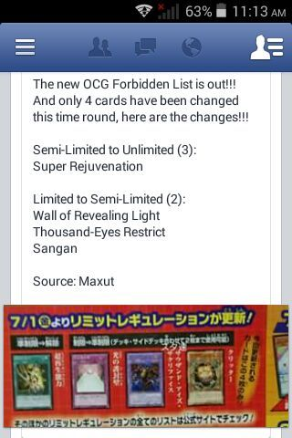 What do you think of the OCG Ban List? (Rumored) | Duel Amino
