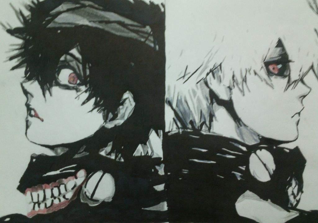 Dibujo de kaneki ken Tokyo Ghoul  Anime Amino