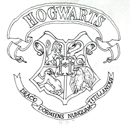 Hogwarts Crest Drawing Harry Potter Amino