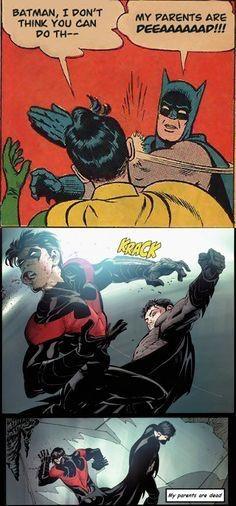 Origin of the 'Batman slapping Robin' meme | Comics Amino