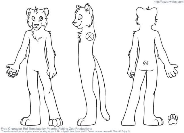 Free Reference Sheet Furry Image Gallery  Hcpr