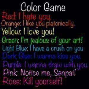 Color game repost if you dare | Neko Amino