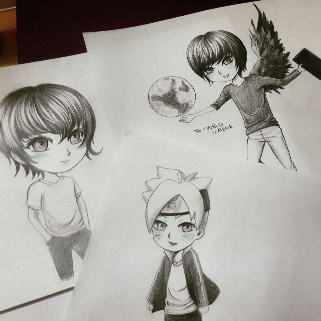 Pencil chibi drawings anime amino