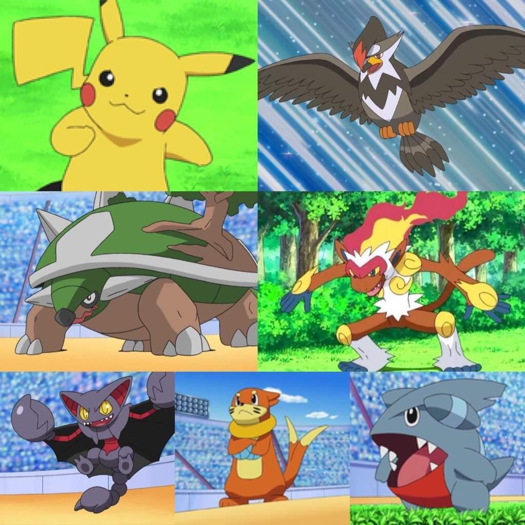 pokemon ash sinnoh team wwwimgkidcom the image kid