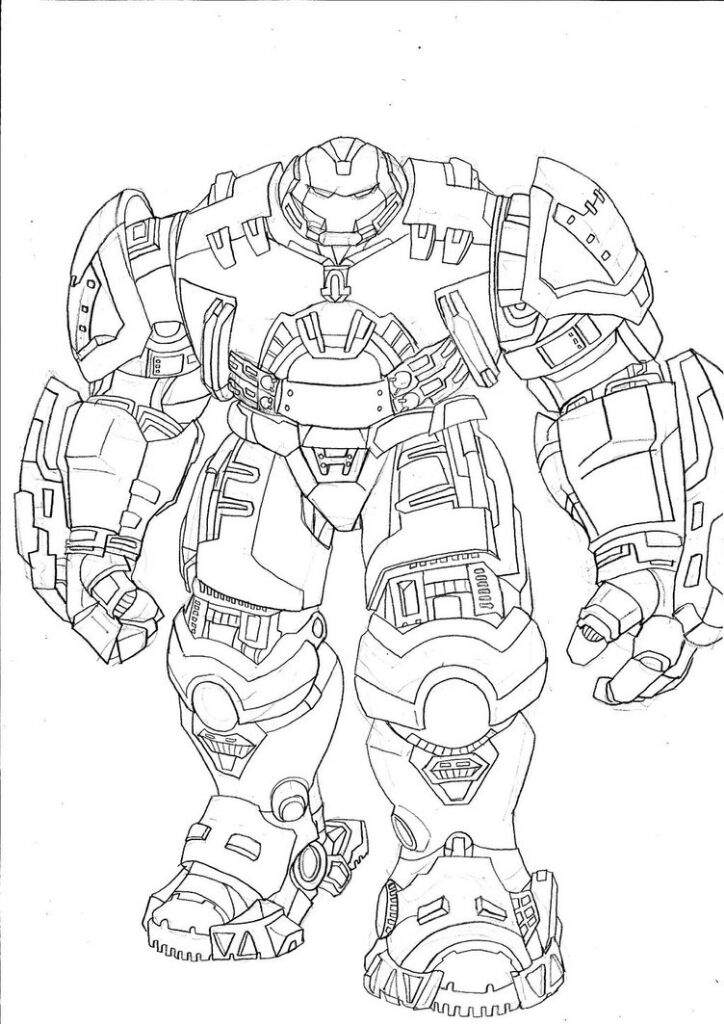 Coloring Pages Hulk Buster Ideas