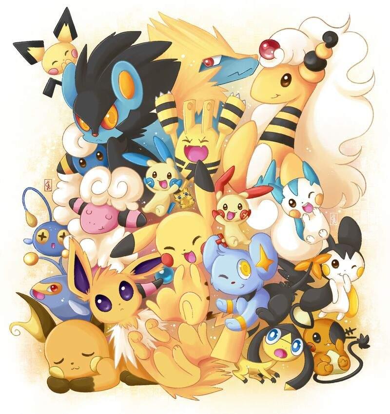 Resultado de imagen de rayo tipo pokemon