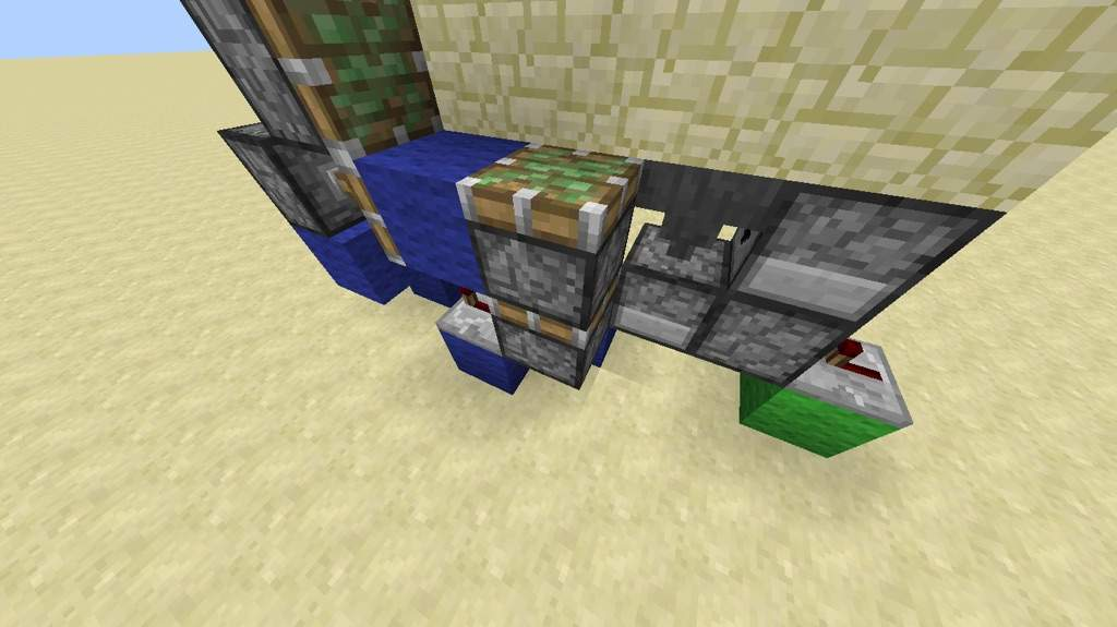 how to make a piston door without sticky pistons