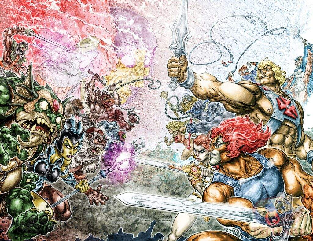 we are getting a thundercats masters of the universe comic dc comics and toy titans have agreed a deal to team up the classic 80 s franchises thundercats and masters of the universe