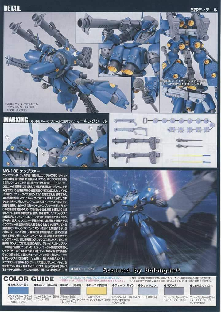 Image result for MG GUNDAM MS-18E Kampfer instructions
