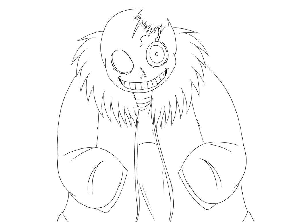 Drawing time horrortale sans undertale amino for Sans coloring page