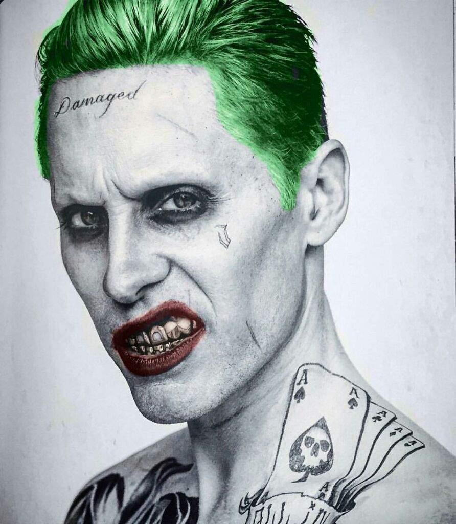 David ayer explains the origin of joker s damaged tattoo for Joker damaged tattoo