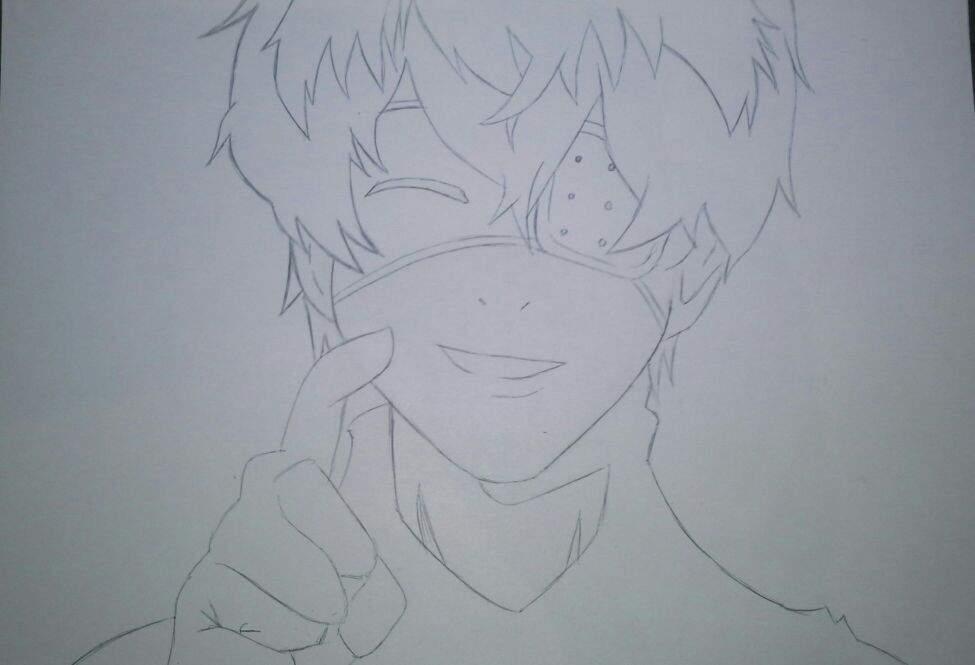 Proceso Dibujo Kaneki Ken TG:Re🌀 [TUTORIAL]