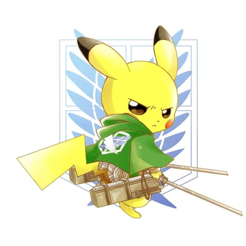 Attack On Titan Pokemon Doublade Pikachu x attack on ti...