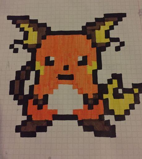 Raichu Pixel Art Amino
