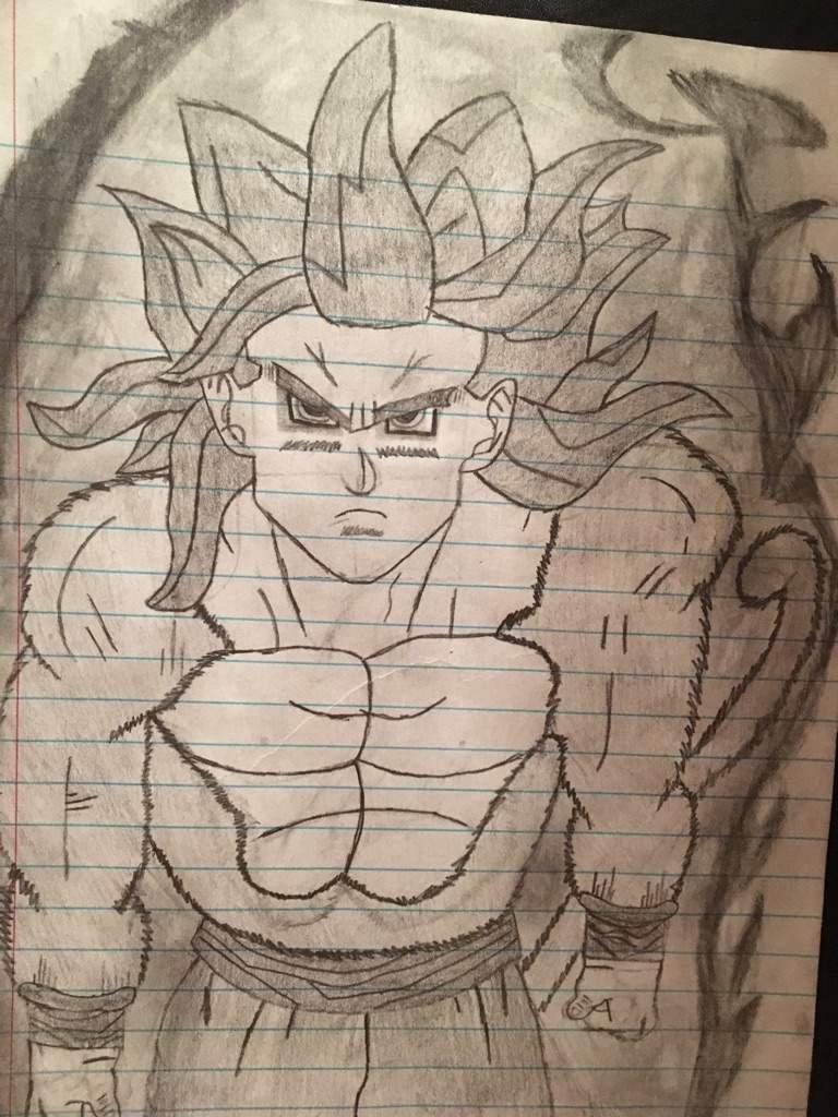 Super saiyan 4 goku black and white drawing dragonballz amino