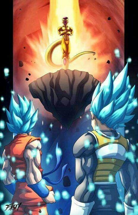 Super saiyan blue goku and vegeta vs golden frieza dragonballz amino - Super sayen 10000 ...