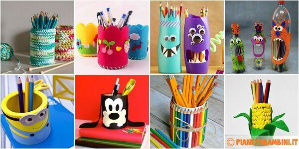 Portacolori creativi crafty amino for Idee camerette bambini fai da te