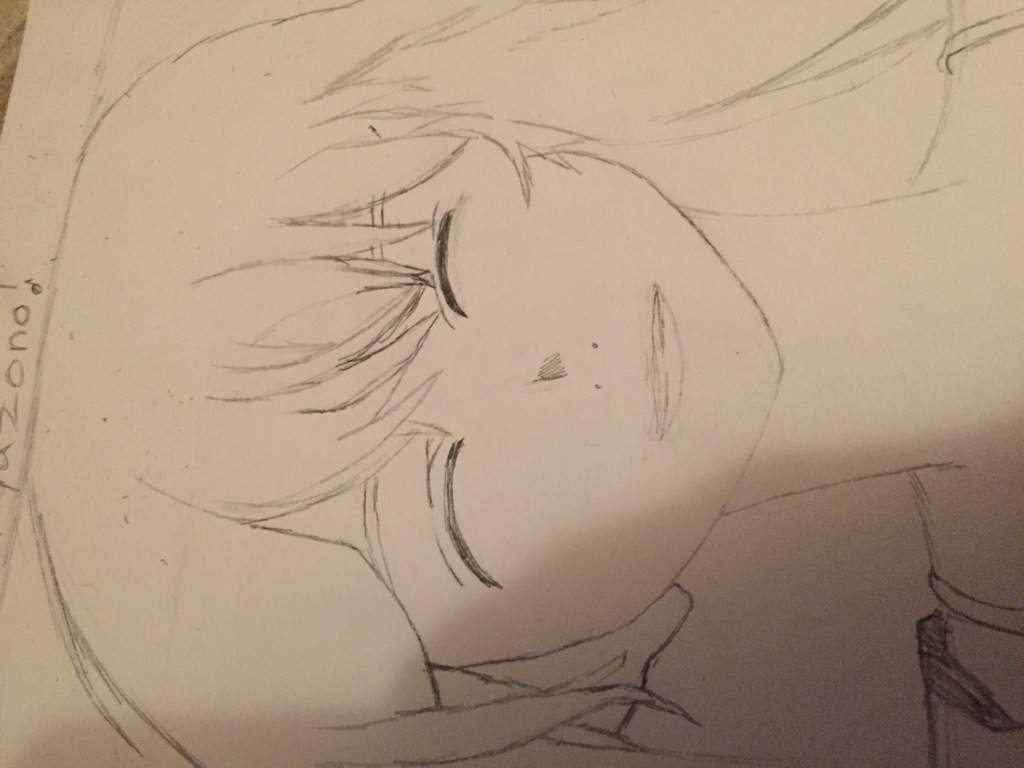 Next Her Eyes, Lightly Sketch Two Curved Lines And Thicken Them Draw The  Eyelid By Drawing A Line A Little Bit Above Both Closed Eyes, And  Separating It