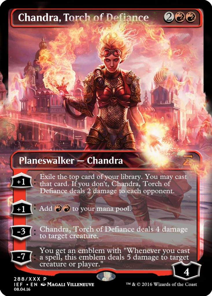 Chandra, Torch of Defiance (Alter #300)   MTG Amino Planeswalker Deck Kaladesh