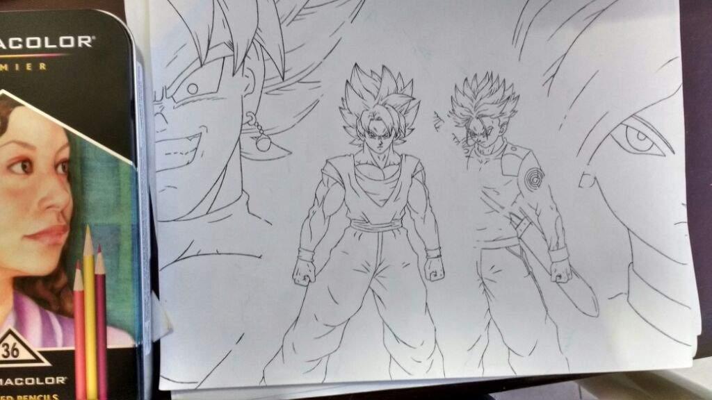 Goku Y Trunks Vs Black Y Zamasu (proseso De Dibujo