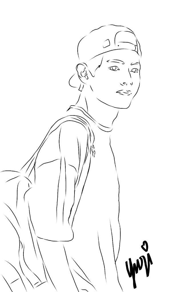 Line Art Kpop : Taehyung outline k pop amino