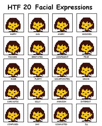 FriskS Emotion Chart  Undertale Amino