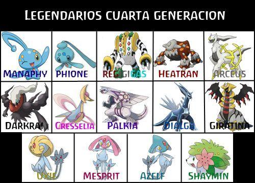 Cual es su legendario favorito de la 4ta generacion? | •Pokémon• En ...