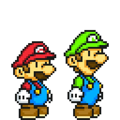 Paper Mario And Luigi Or Should I Say 8 Bit
