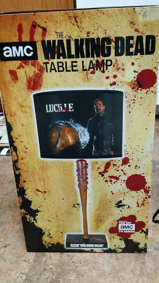 Negan Amp Lucille Table Lamp Walkers Amino