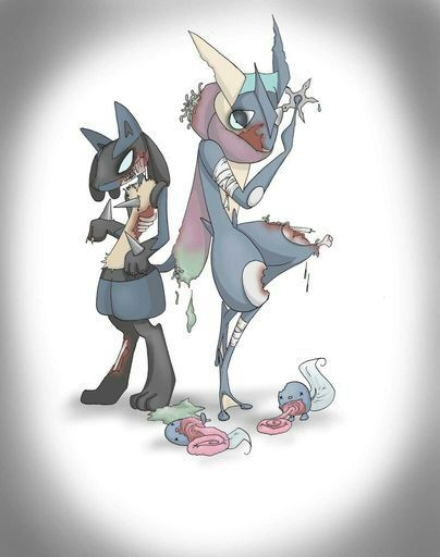 halloween greninja and lucario by zoombieeevee pokmon amino