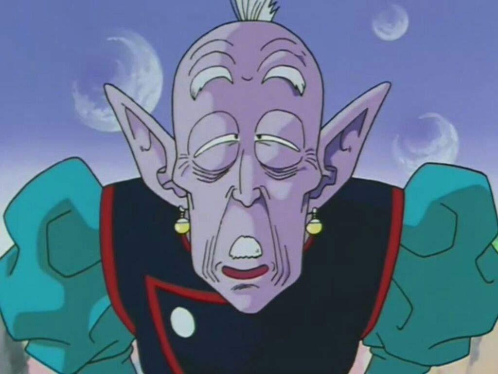 Primero que todo la fusión del kaio shin de hace 15 generaciones con una Vieja bruja de manera accidental ella le arrebató un pendiente creyendo que eran